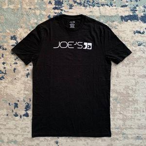 Joe's Jeans Black Logo T-shirt New Condition Men S